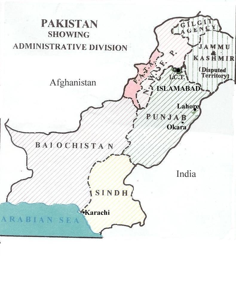 Map 1 Pakistan – Provinces