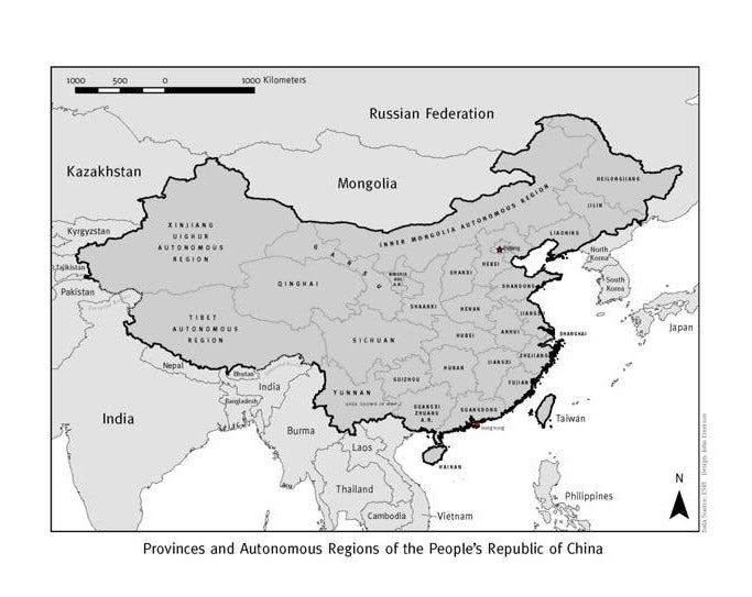 China We Could Disappear At Any Time Map Of The Peoples - Peoples republic map