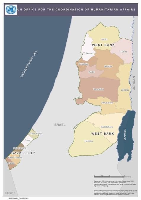 Gaza >> A Question of Security: Violence against Palestinian Women and Girls: MAP 2
