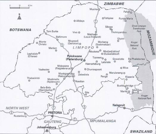 Limpopo Relief Map Keep Your Head South Africa -