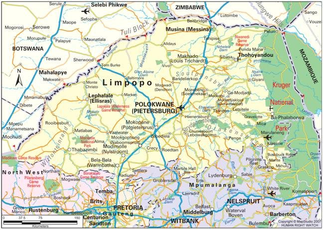 map of limpopo province