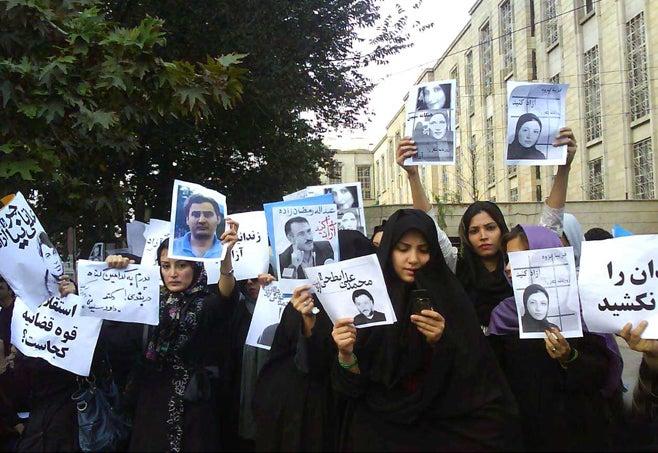 איראן פרץ של מעשי דיכוי