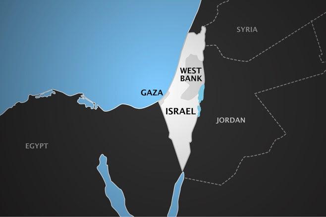 ישראל עזה מפה