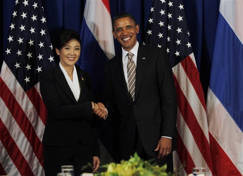 Thailand Prime Minister Yingluck Shinawatra and Obama