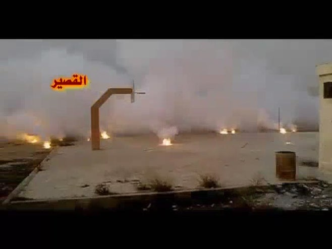 Incendiary weapons in Syria - Youtube video still