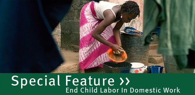 Girl domestic worker in Conakry