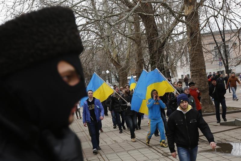 2014_Crimea_pro Ukraine protest_ua
