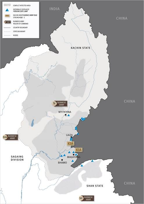 Wartime Abuses and Forced Displacement in Burma's Kachin ... on northern california state counties map, karen state myanmar map, kayin state myanmar map, northern part of united states map, mon state myanmar map, rakhine state myanmar map, chin state myanmar map,