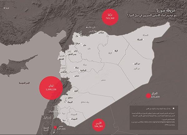 Arabic Map of Syria