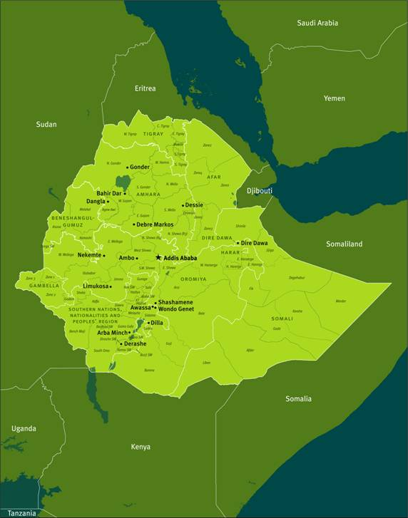 How aid underwrites repression in ethiopia hrw cities and towns shown on this map were visited by human rights watch in 2009 in the course of research for this report gumiabroncs Images