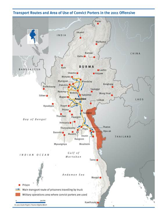 Convict Porters on the Front Lines in Eastern Burma | HRW
