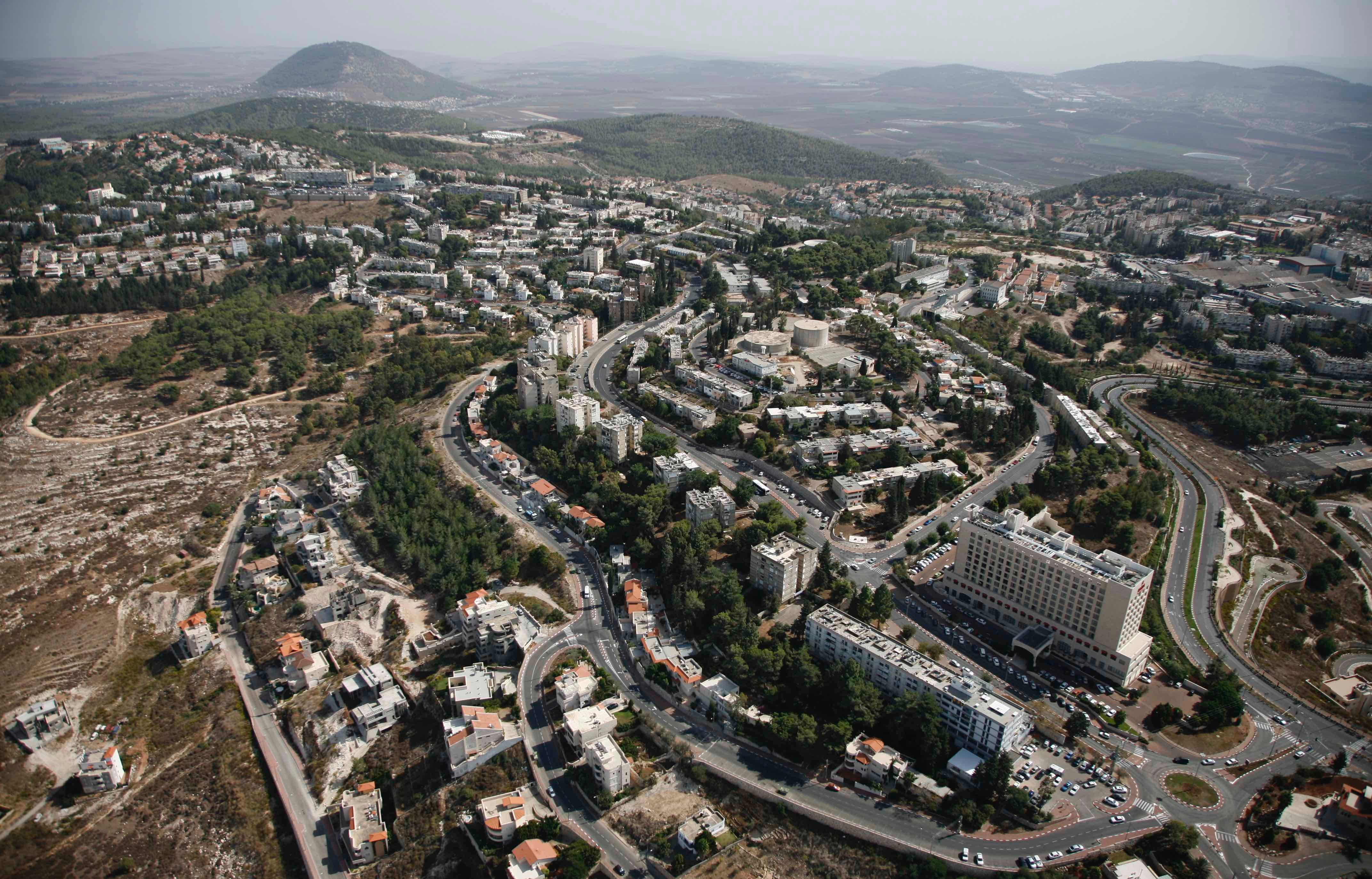 Nof HaGalil, a city that changed its name from Nazareth Illit (Upper Nazareth) in 2019. Aerial photography taken between 2011 and 2015.