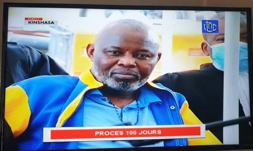 Vital Kamerhe lors de la première audience de sonprocès à Makala, la prison centrale de Kinshasa, le 11 mai 2020.