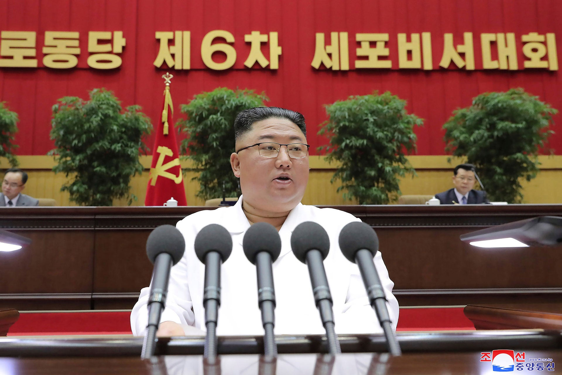 North Korea's Leader Warns of Famine