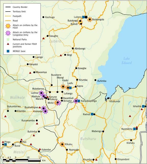 Attacks in the Lubero Area, North Kivu
