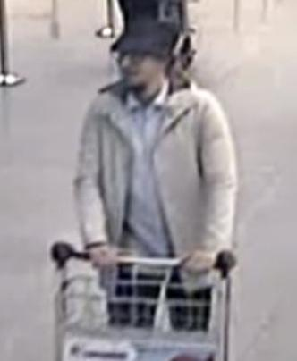 "CCTV image from Belgium's Zaventem Airport of the ""man in the hat,"" a prime suspect in the airport bombing."