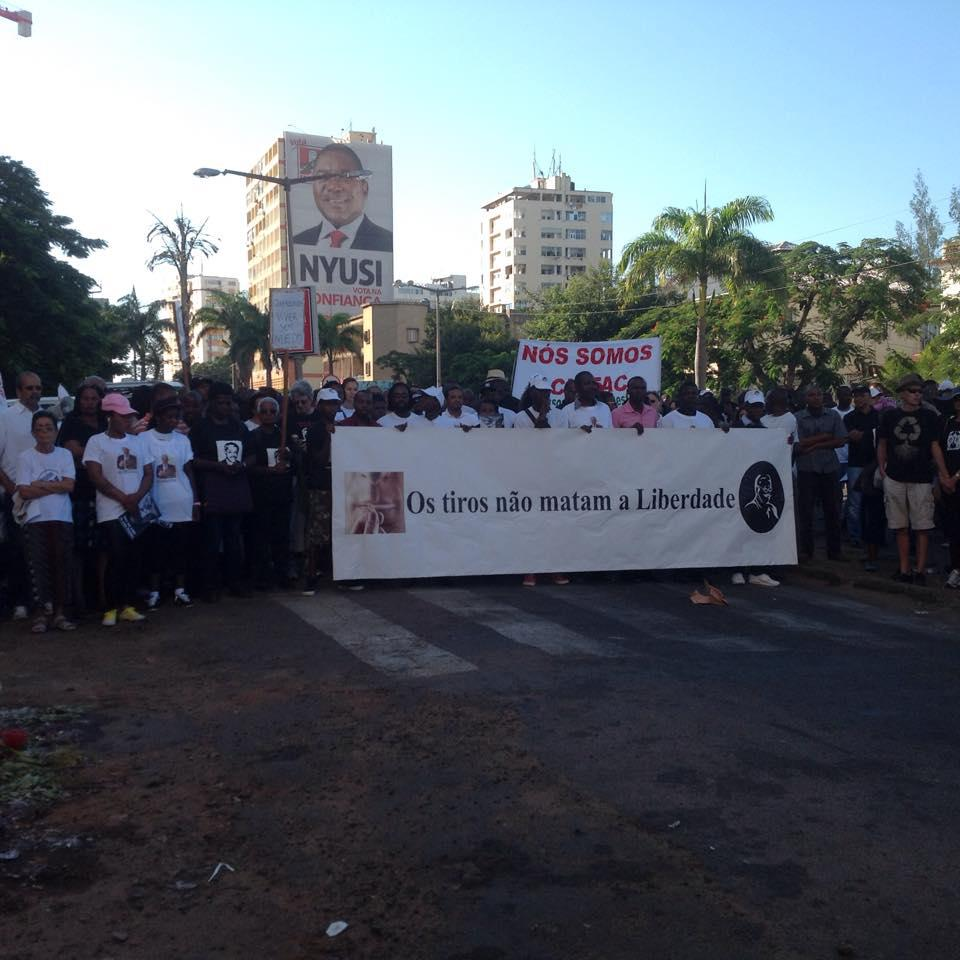 The killing of constitutional lawyer Gilles Cistac in March 2015 sparked a protest calling for an end to killings and intimidation.