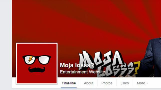 "Screenshot of the ""Moja Losss?"" Facebook page."