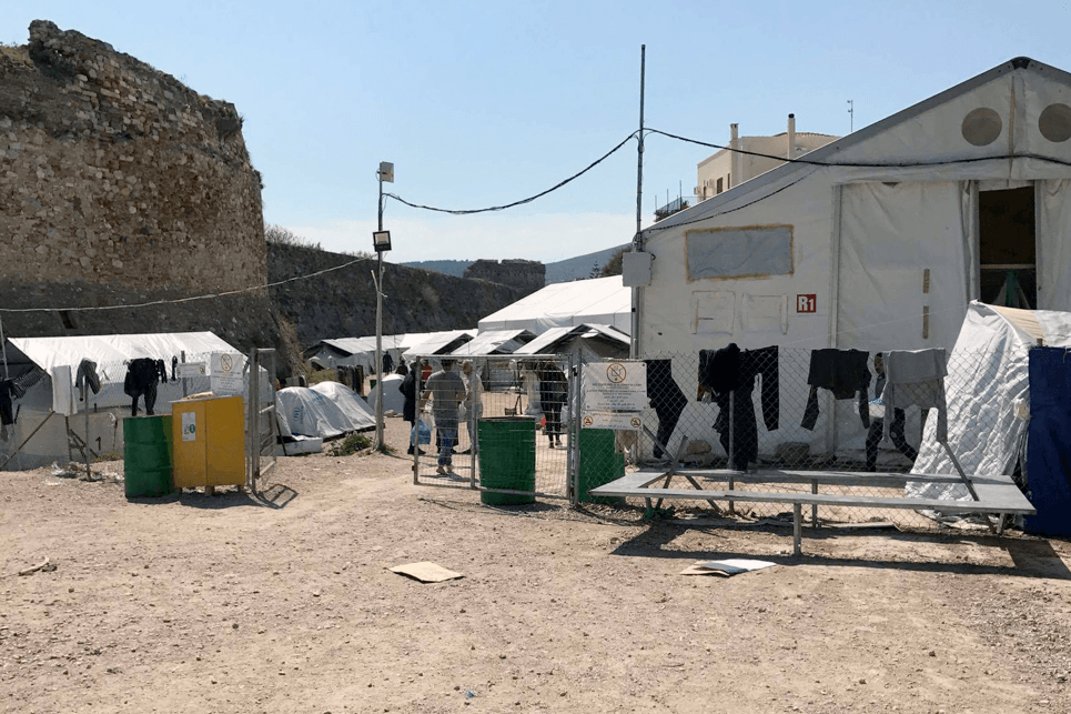 Souda refugee camp on the island of Chios. Poor living conditions in the camp and overcrowded hotspots, with little to no access to basic services, such as sanitation and proper shelter is key factor that contributes to psychological distress.