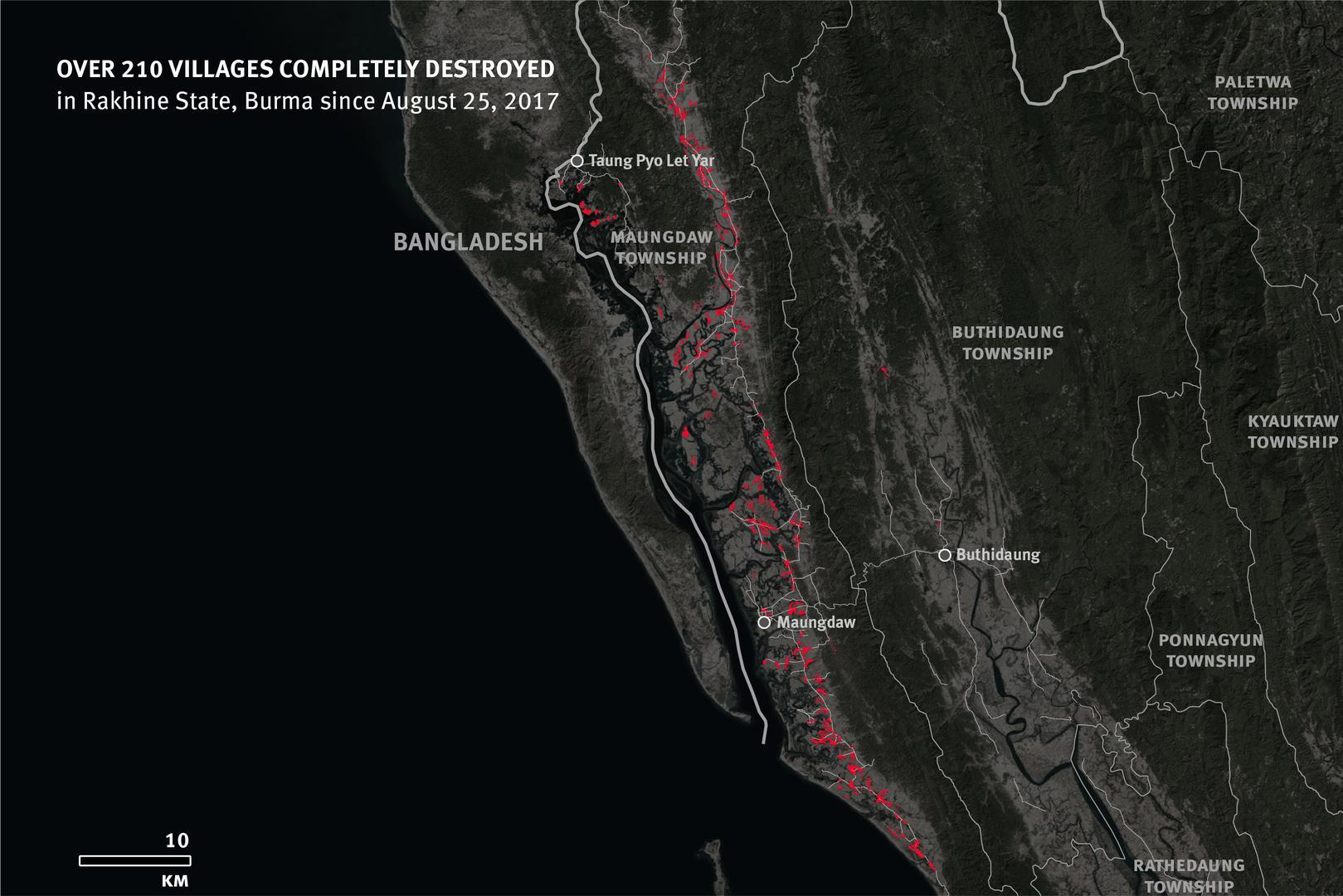 Over 210 Villages Destroyed