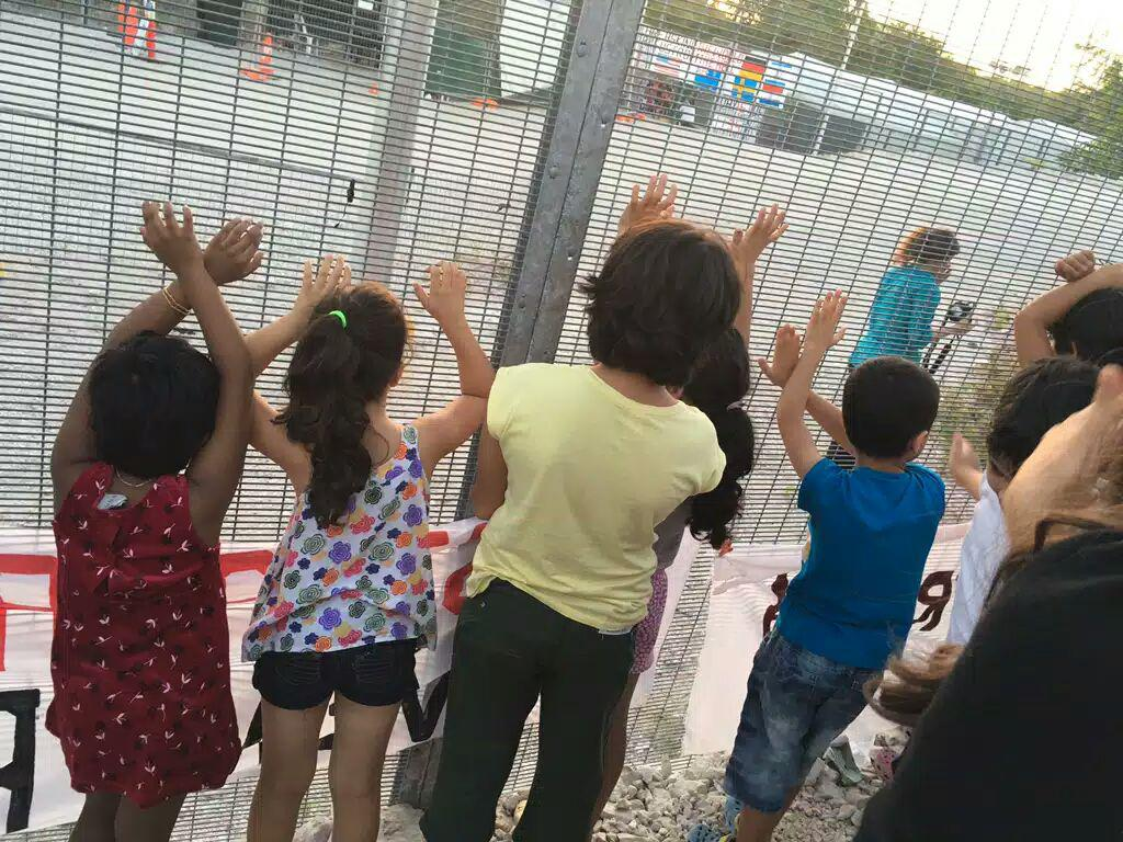 "Children sent to Nauru by Australia for ""offshore processing,"" August 2016. Parents and children reported that students from families of refugees and asylum seekers are frequently bullied by Nauruan students."