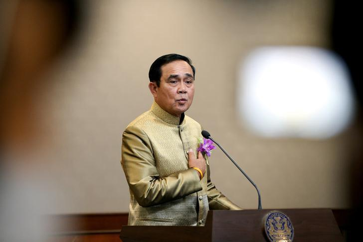 Thailand's Prime Minister Prayuth Chan-ocha gestures during a news conference after a weekly cabinet meeting at Government House in Bangkok, Thailand, January 9, 2018.