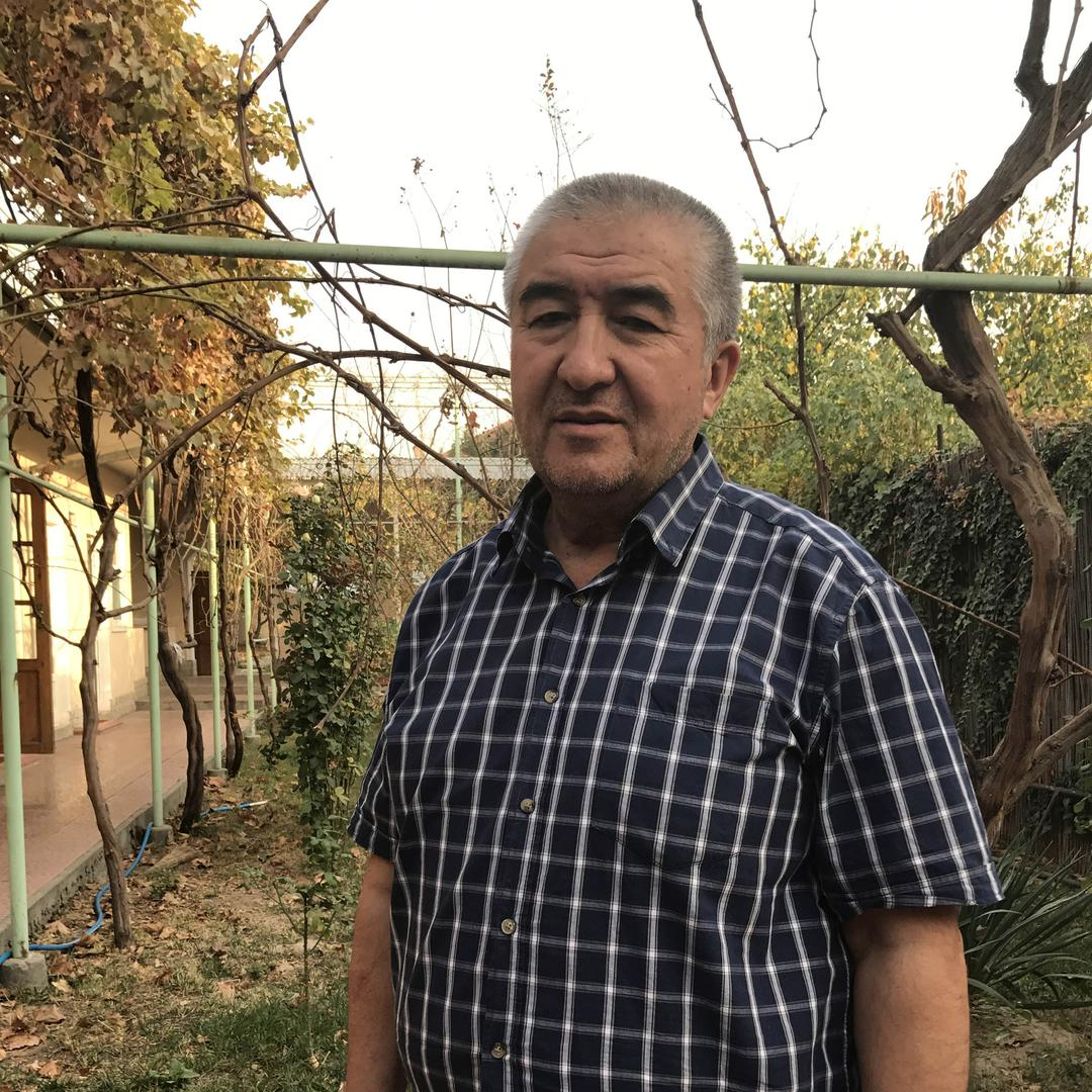 "Uzbek author Nurullo Otakhanov, currently under house arrest, having returned to Uzbekistan from Turkey in September 2017 only to face arrest at the airport on ""extremism charges"". Tashkent."
