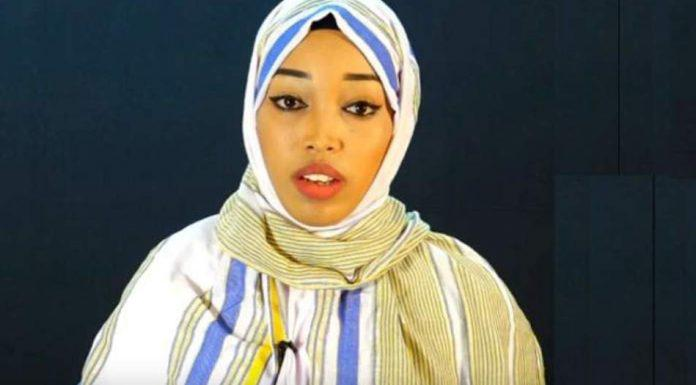 Naima Ahmed Ibrahim, a popular poet, was sentenced to three years in prison for promoting unity of Somaliland with Somalia. She was released on May 7, 2018, following a presidential pardon after spending more than three months in detention. © Private