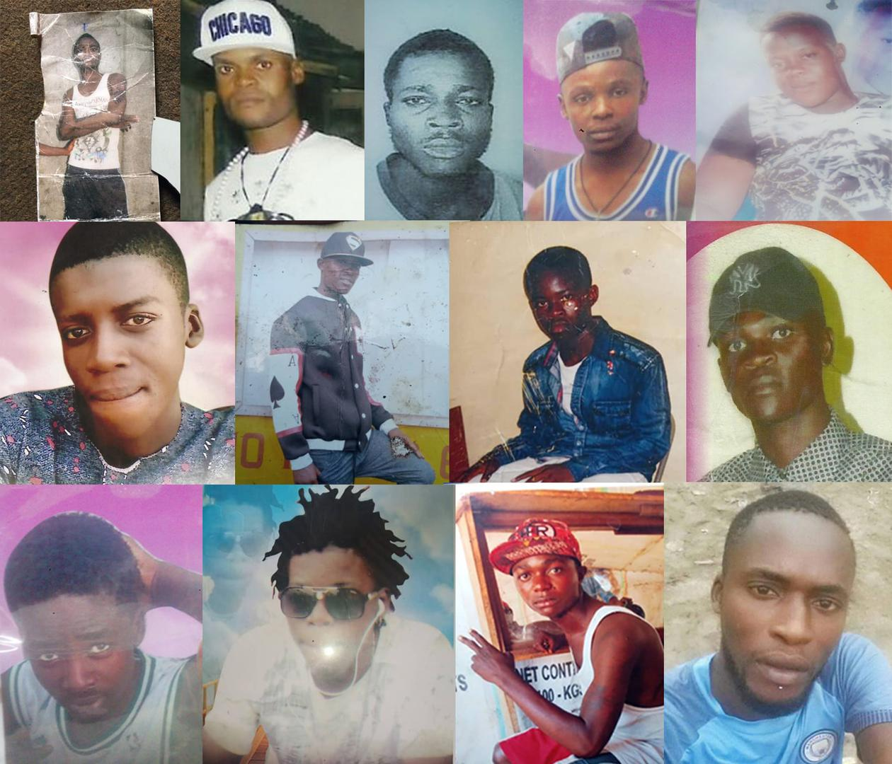 Security forces in the Democratic Republic of Congo summarily killed at least 27 young men and boys and forcibly disappeared 7 others during an anti-crime campaign that began in May 2018. Names of those pictured have been withheld because of security conc