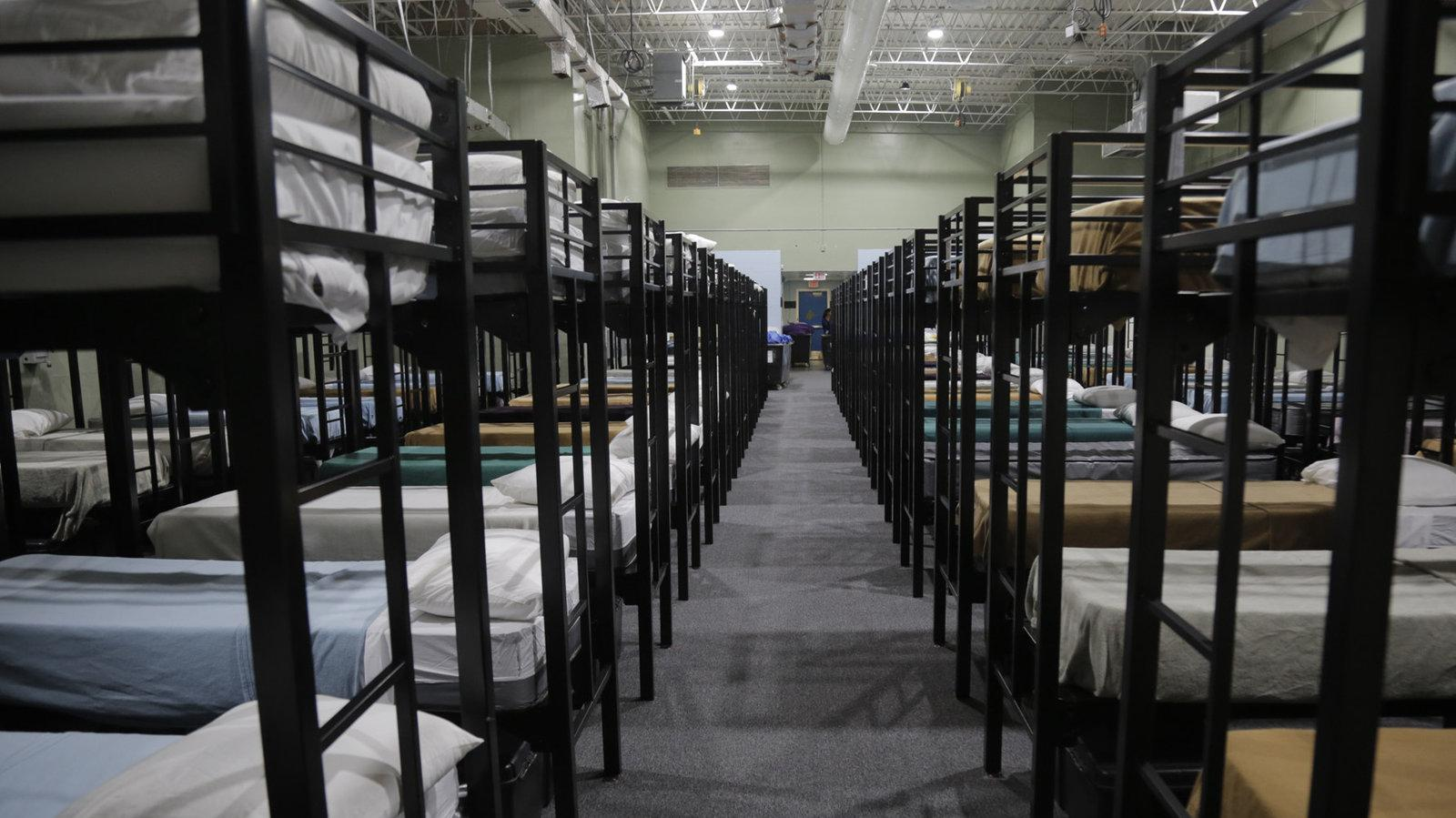 Dormitory beds for migrant children