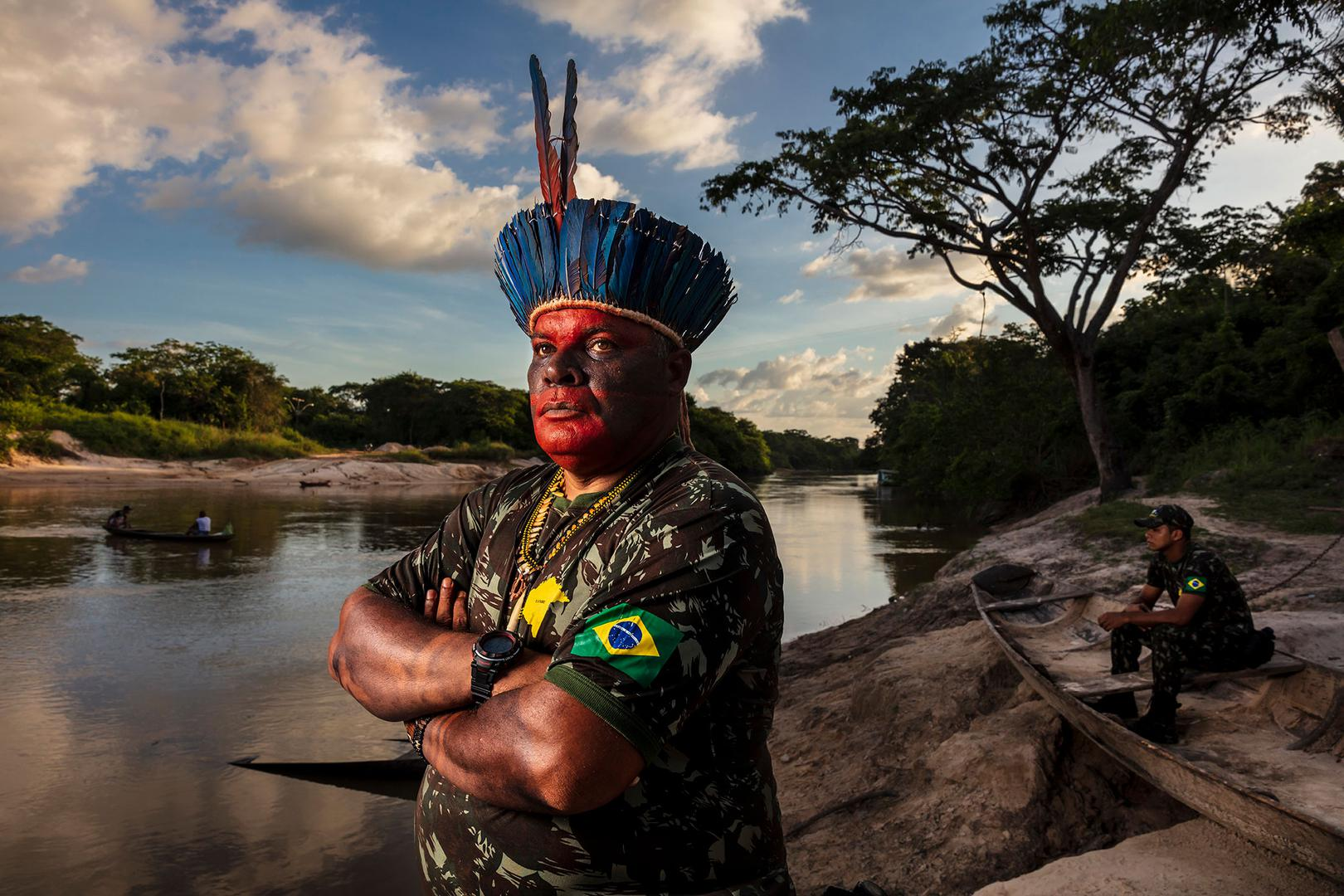 Cláudio José da Silva at the bank of the Pindaré river, in the Brazilian Amazon.