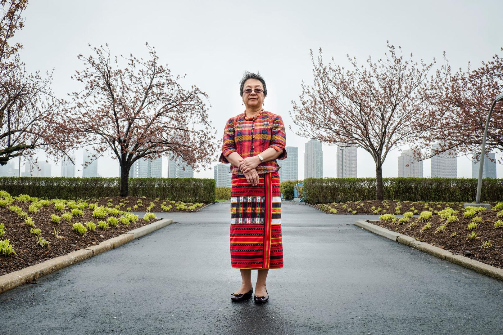 Victoria Tauli-Corpuz, the United Nations special rapporteur on the rights of indigenous peoples, at UN headquarters in New York in April 2018.