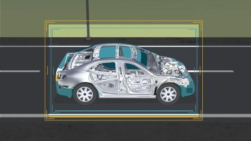 Illustration of a car frame