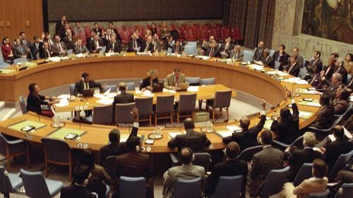 The United Nations Security Council unanimously adopts Resolution 1373, mandating member states to pass wide-ranging counterterrorism laws, on September 28, 2001.