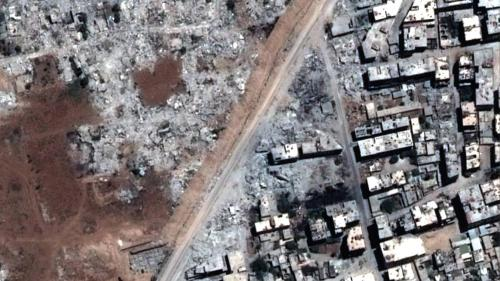Demolitions around Mezzeh airport, Damascus.