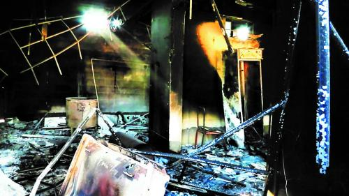Militias looted and set on fire homes and local businesses in the village of Yengija, Iraq, in late September 2014. © 2014 Human Rights Watch