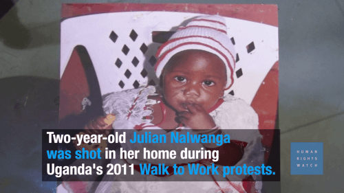A picture of a child, who was killed during Uganda's 2011 Walk to Work protests.