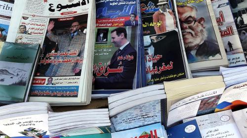 Newsstand in Rabat, Morocco. © 2017 Human Rights Watch