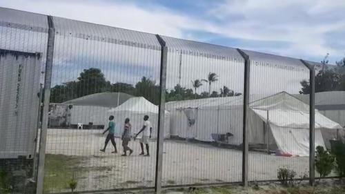 A picture of Manus Island refugee detention center, Papua New Guinea.