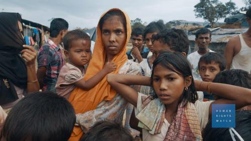 A Rohingya woman in a camp in Bangladesh