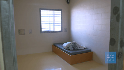 A photo of a cell in an Australia Prison.