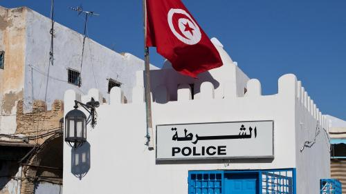 Police station in Tunis, Tunisia.
