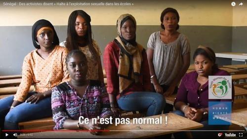 Ces jeunes activistes défendent le droit à l'éducation de toutes les Sénégalaises, dans un contexte serein et sans risque de harcèlement sexuel. #CeNestPasNormal