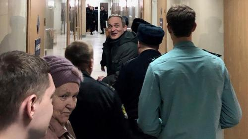 Dennis Christensen after the hearing at the Zheleznodorzhy District Court in Oryol, January 28, 2019