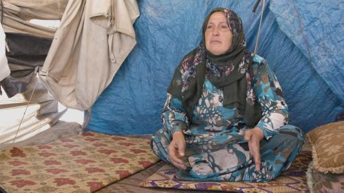 Syrian mother who's son was kidnapped by ISIS