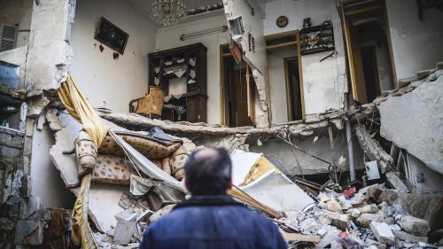 House destroyed by explosive weapon
