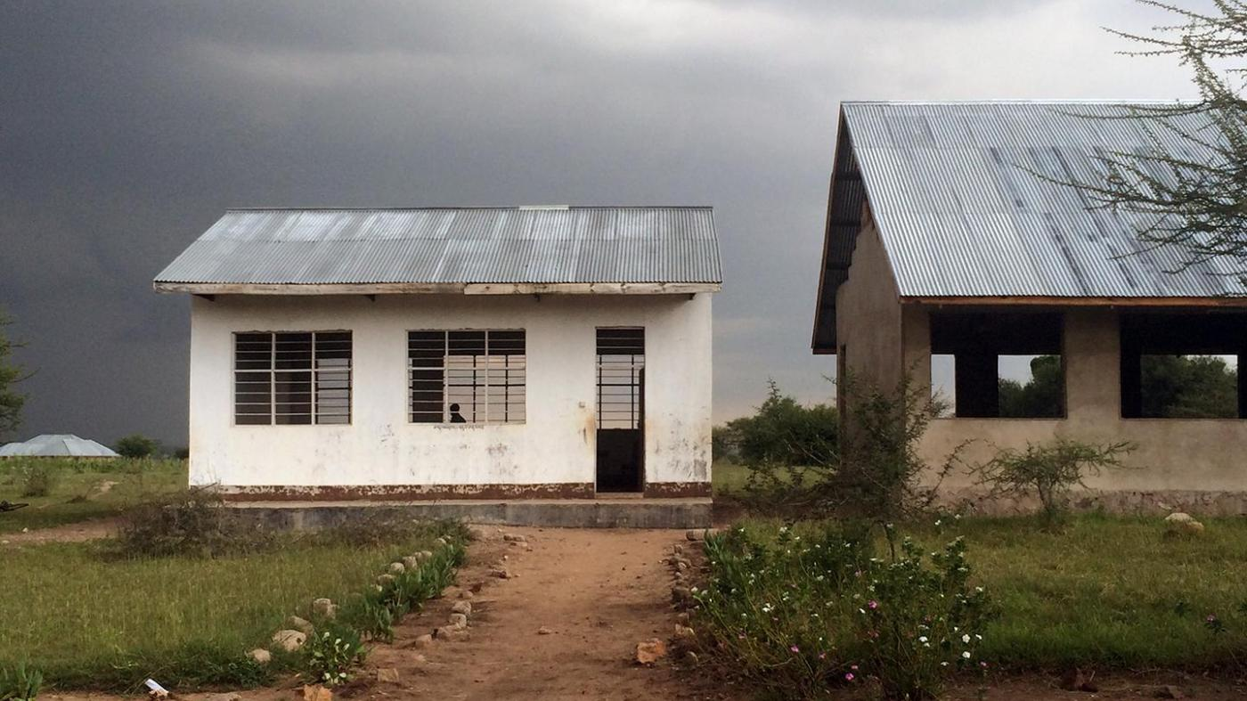 An unfinished science laboratory next to a classroom at a secondary school in Shinyanga region, northern Tanzania.