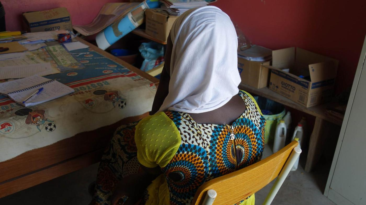"""Ruhiyyeh,"" 17, from the city of Kolda, southern Senegal, got pregnant when she was in the final year of lower secondary school."