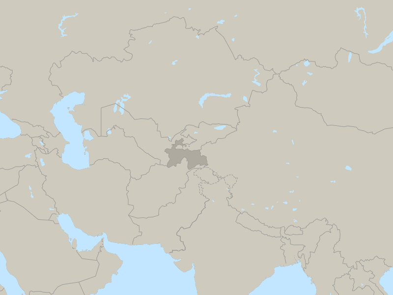 Tajikistan country page map