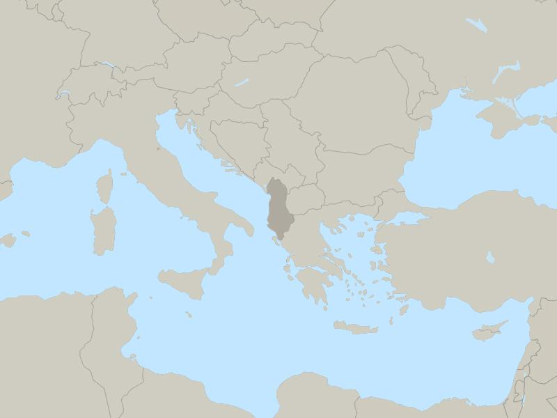 Albania country page map